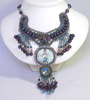 Use The Muse Winner Bead Embroidered Necklace