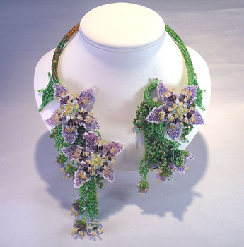 advanced level beading pattern flowers
