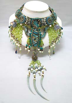 Neptune's Tail Beaded Necklace