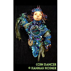 Bead Embroidered Beadwoven Beaded Glass Bead Semiprecious Art Doll